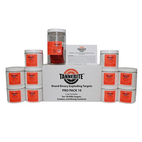 TANNERITE PRO PACK 10 - SINGLE CASE OF TEN 1 POUND TARGETS