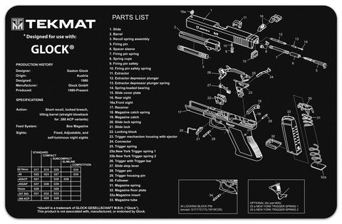 TEKMAT GLOCK CLEANING AND PARTS MAT
