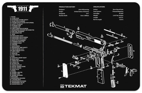 TEKMAT 1911 CLEANING AND PARTS MAT