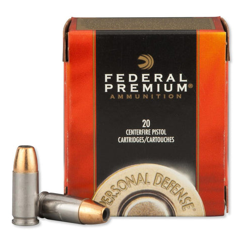 FEDERAL PREMIUM PERSONAL DEFENSE 9MM 124GR HST JHP - 20RD