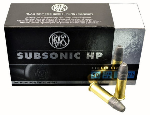 RWS SUBSONIC HP 22LR 40 GRAIN BULLETS - CASE OF 500