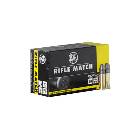 RWS RIFLE MATCH 22LR 40 GRAIN BULLETS - CASE OF 500