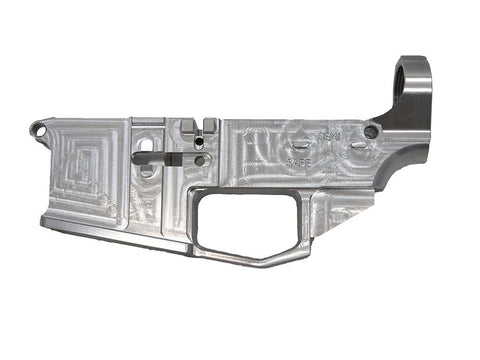 80% ARMS RAW BILLET AR15 LOWER RECEIVER - WHITE
