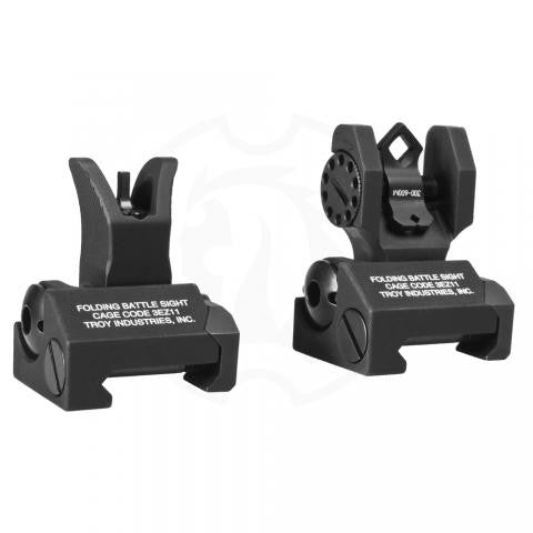 TROY INDUSTRIES BATTLESIGHTS SET M4 FRONT & DIOPTIC REAR - BLACK
