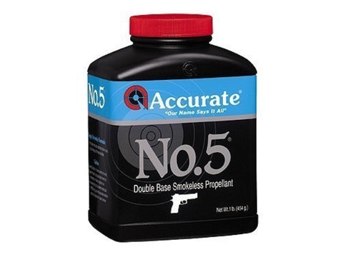 ACCURATE NUMBER 5 SMOKELESS PROPELLANT - 1 LB
