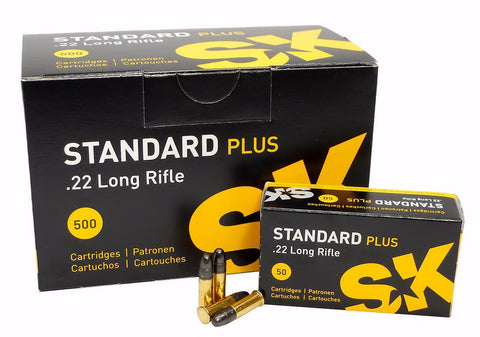SK STANDARD PLUS 22 LONG RIFLE 40 GRAIN BULLETS - CASE OF 50