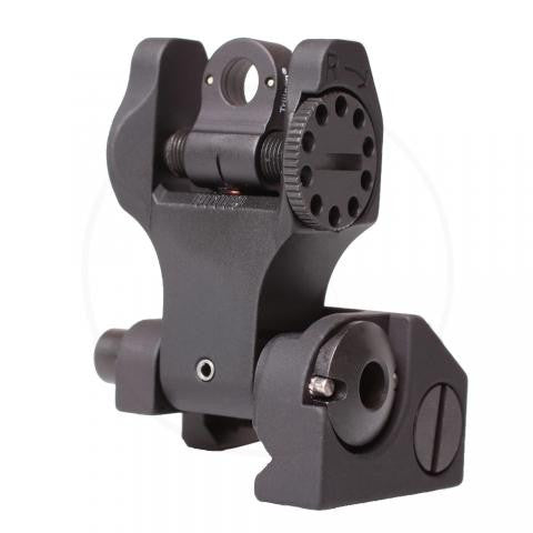 TROY INDUSTRIES TRITIUM FOLDING BATTLE SIGHT REAR - BLACK