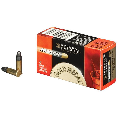 FEDERAL PREMIUM MATCH GOLD MEDAL 22LR 40GR - 50RD