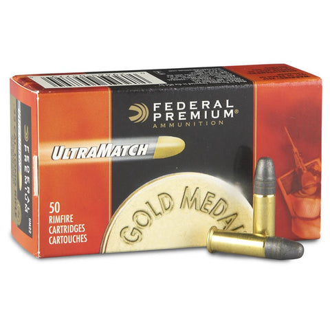 FEDERAL PREMIUM ULTRAMATCH GOLD MEDAL 22LR 40GR - 50RD