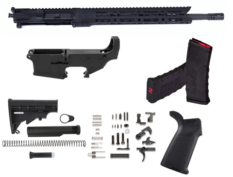 80% AR15 5.56 RIFLE KIT FREE FLOAT UPPER BUILD