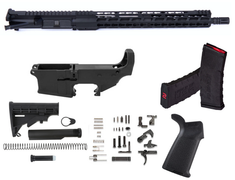 "80% AR15 5.56 RIFLE KIT 15"" KEYMOD FREE FLOAT"