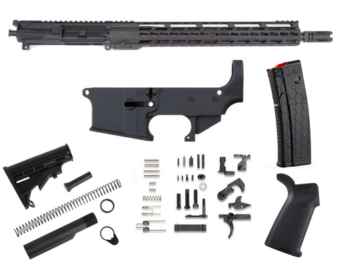 "80% AR15 458 SOCOM 16"" KEYMOD FREE FLOAT RIFLE BUILD KIT"