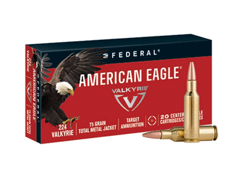 FEDERAL AMERICAN EAGLE 224 VALKYRIE 75 GR FMJ - 20 ROUNDS