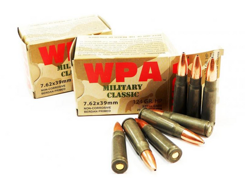 WOLF MILITARY CLASSIC 7.62 X 39 124 GR. FMJ AMMUNITION - 1000 ROUNDS