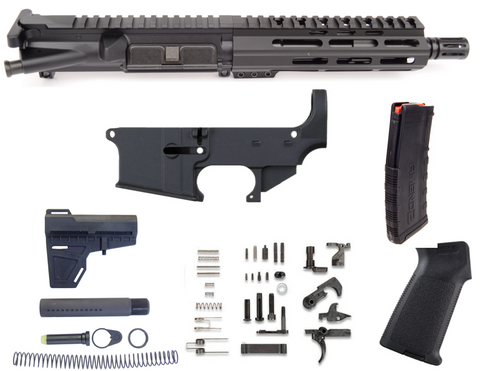 "80% AR15 556 7.5"" FREE FLOAT PISTOL BUILD KIT - BLACK"