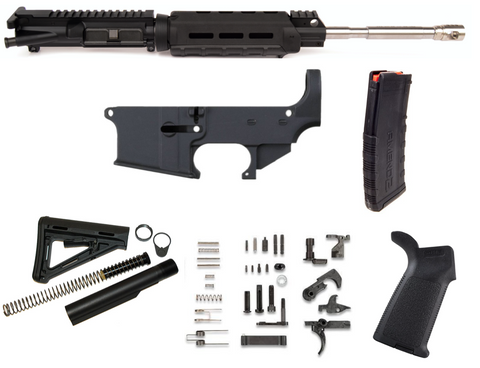 "80% AR15 223 WYLDE 16"" MAGPUL M-LOK RIFLE BUILD KIT - BLACK"