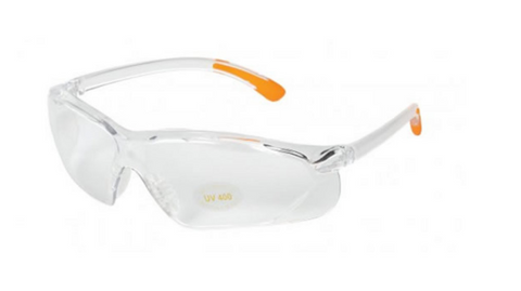 ALLEN FACTOR SHOOTING GLASSES - CLEAR / ORANGE