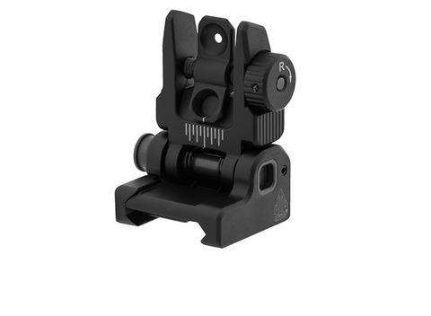 UTG ACCU-SYNC SPRING LOADED AR-15 FLIP UP REAR SIGHT