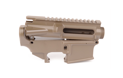 80% CERAKOTE AR-15 UPPER / LOWER COMBO SET - PATRIOT BROWN