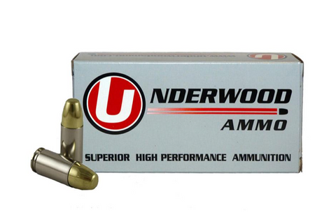 UNDERWOOD AMMO 9MM LUGER +P+ 147 GR FMJ AMMUNITION - 20 ROUNDS