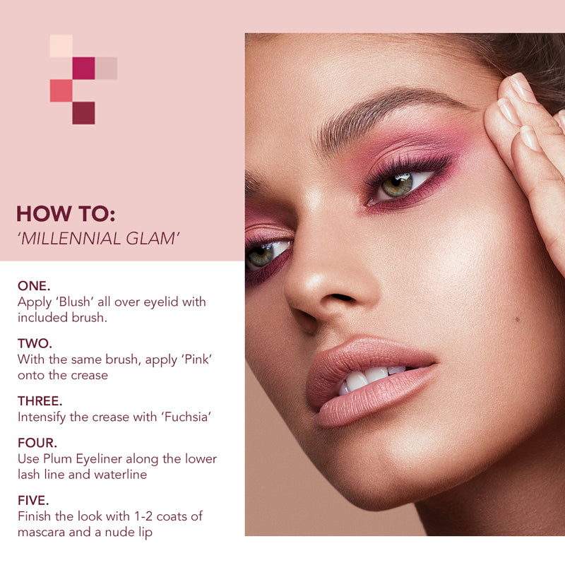 how to use pink eyeshadow
