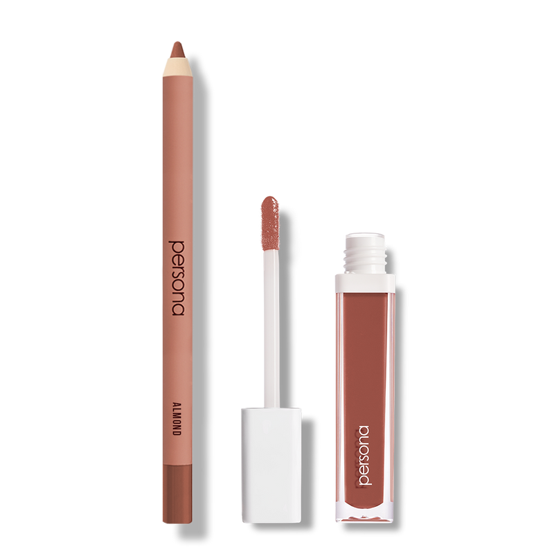 persona spring lip set almond lip liner and marrakesh lip gloss