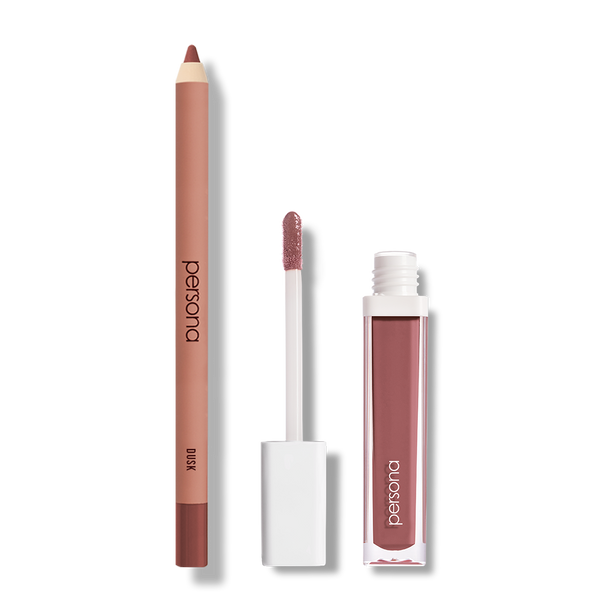 persona spring lip set dusk lip liner and shortcake lip gloss