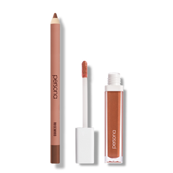 persona spring lip set rosewood lip liner and honey lip gloss