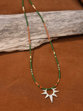 Load image into Gallery viewer, Sun Worship Amulet - Silver + Emerald