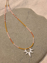 Load image into Gallery viewer, Sun Worship Amulet - Silver + Tangerine