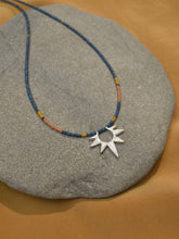 Load image into Gallery viewer, Sun Worship Amulet - Silver + Blue