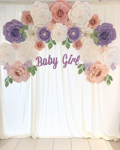 Paper flower decoration  flower baby theme  Baby shower decorations  flower girl party  Baby girl party decorations  paper flowers
