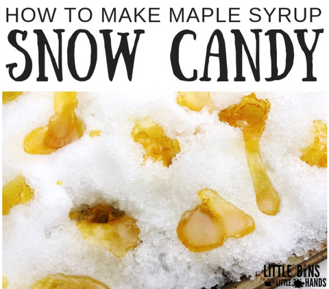 winter activity maple snow candy