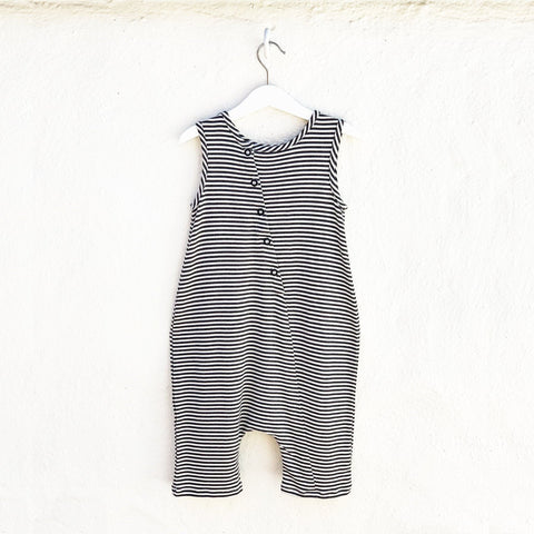 Black and white striped baby romper from Bash & Sash