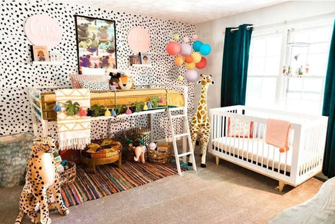 Colorful shared kids' room