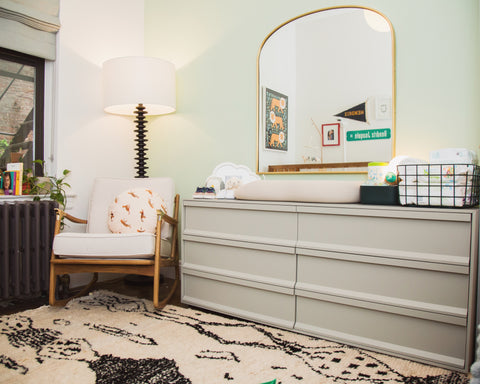 Cyndi Ramirez's nursery reveal - changing table and mirror