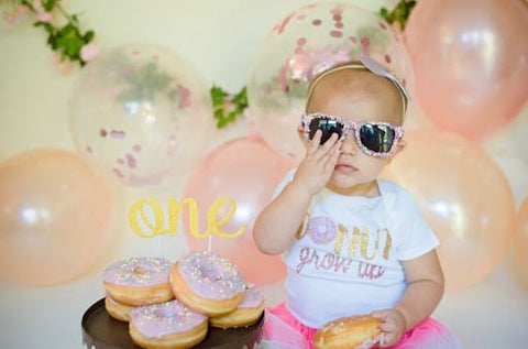Donut display for first birthday party.