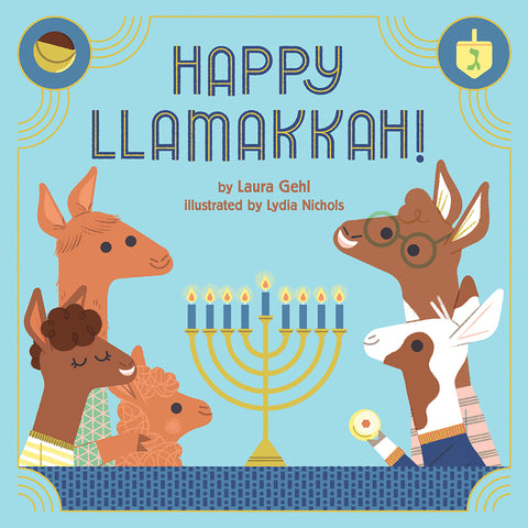 Hanukkah books - Happy Llamakkah