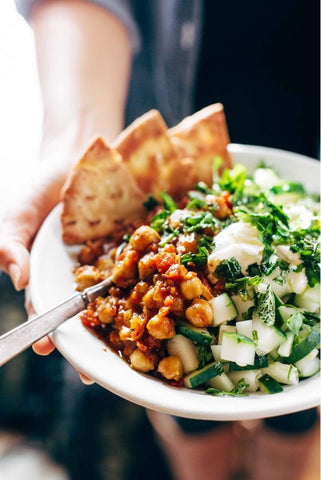Moroccan Spiced Chickpea Bowls