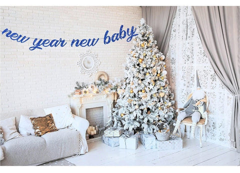 New Year's themed baby shower banner