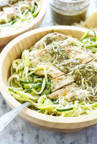 Pesto Chicken with Zoodles