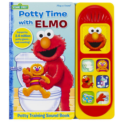 """""""Potty Time With Elmo"""" book cover"""