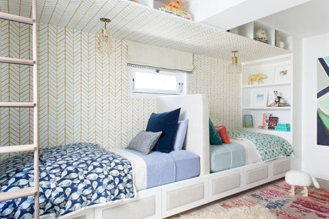 back to back beds in a shared kids' room