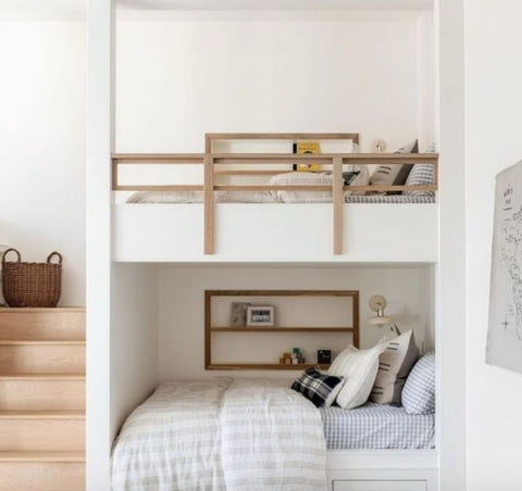 Shared kids' room with built-in bunk beds