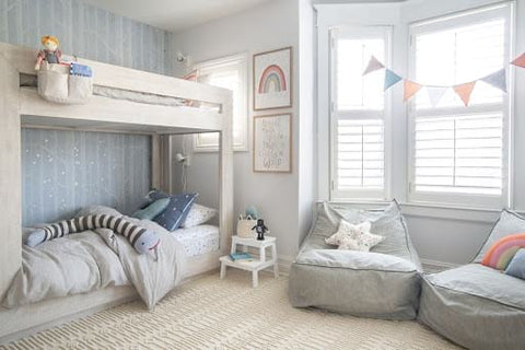 Shared kids' room with bunk beds