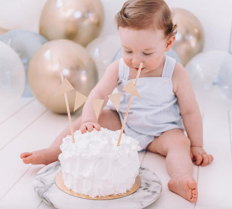 Toddler and simple white smash cake.