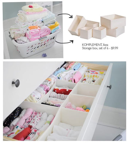Drawer with drawer organizers