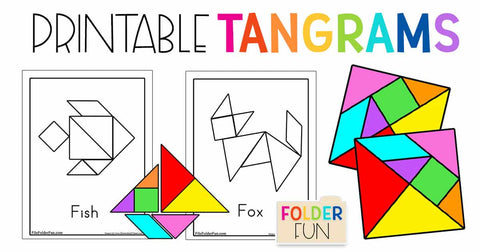 toddler math activity: printable tangrams