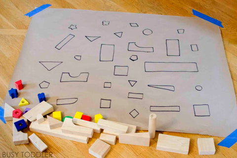toddler math activity: great shape hunt