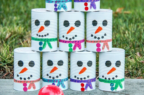winter activities for toddlers snowman bowling